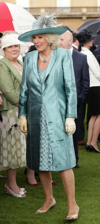 La duquesa de Cornualles asiste a una fiesta de jardín en el Buckingham Palace, el centro de Londres. 03/06/2014
