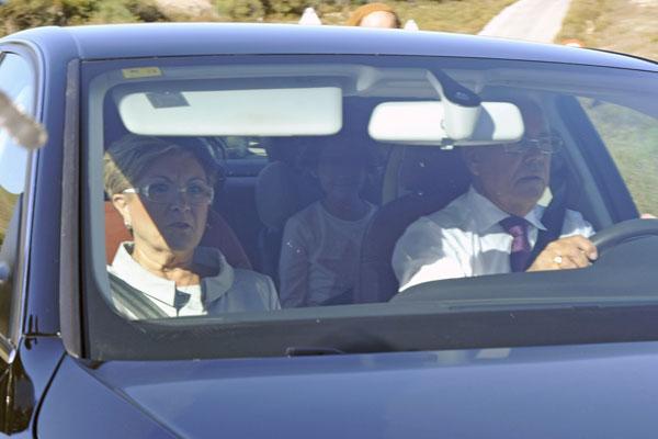 Los Campanario, Remedios Torres y Pepe Campanario en la boda de Victor Janeiro y Beatriz Trapote