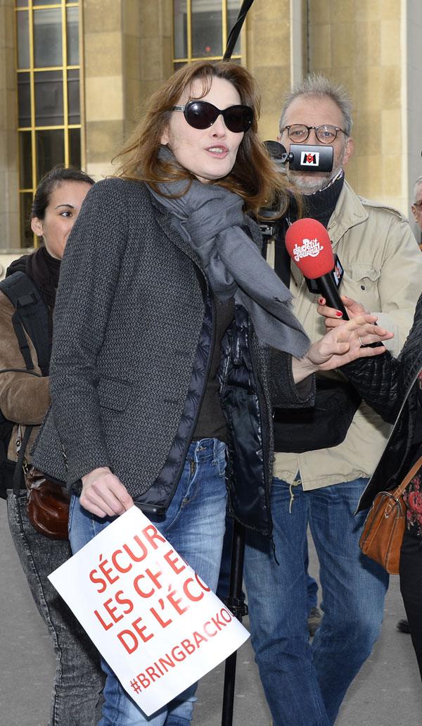 Carla Bruni en Paris en mayo de 2014