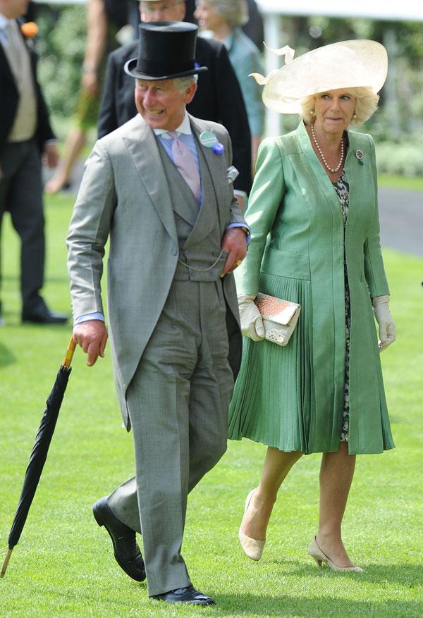 Carlos-de Inglaterra y-Camilla ayer en Ascot