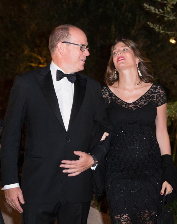 Carlota-y-Alberto-de Mónaco en una cena benéfica