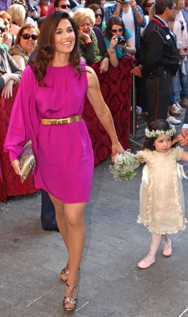 Carmen Solis Tello y su hija en la boda de Fernando Solis en Sevilla