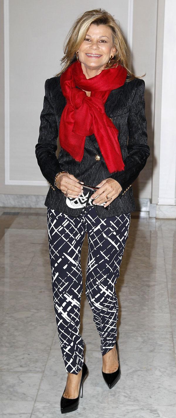 Cari Lapique en la presentación del libro de Naty Abascal, '100% Naty' en el hotel Villamagna de Madrid
