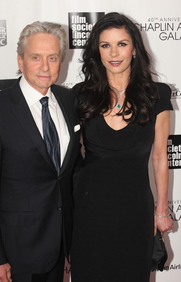 Michael Douglas y Catherine Zeta Jones en Nueva York