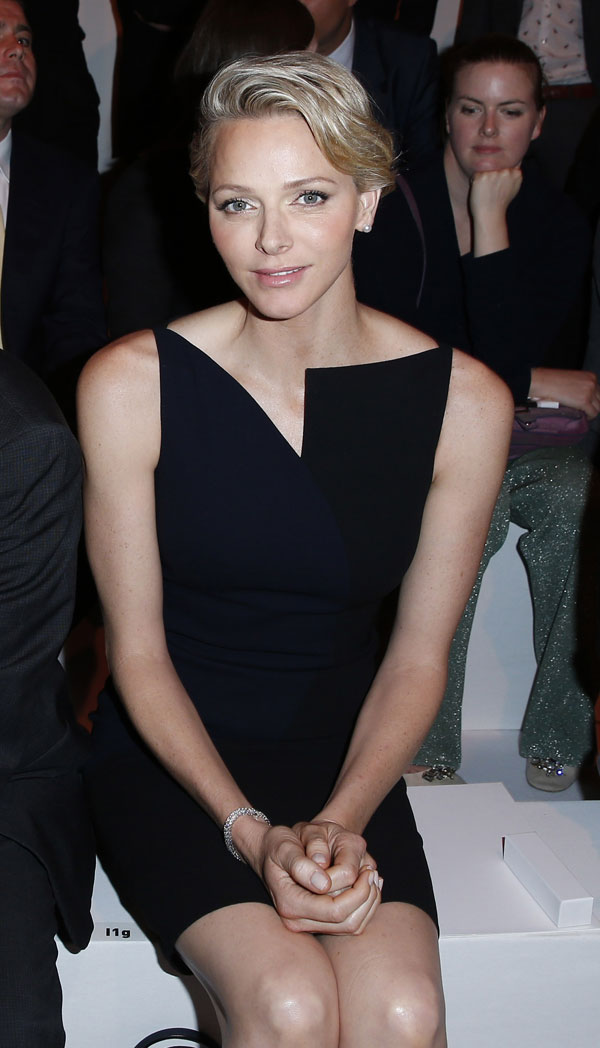 Charlene Wittstock, princesa de Mónaco, en la semana de la moda de París