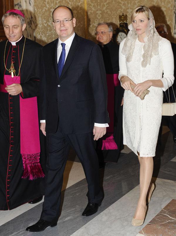 Charlene-y-Alberto de Monaco-Papa
