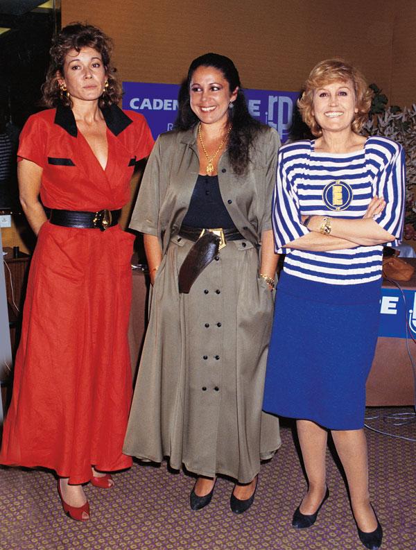 Mila Ximénez de Cisneros, Isabel Pantoja y Encarna Sánchez.