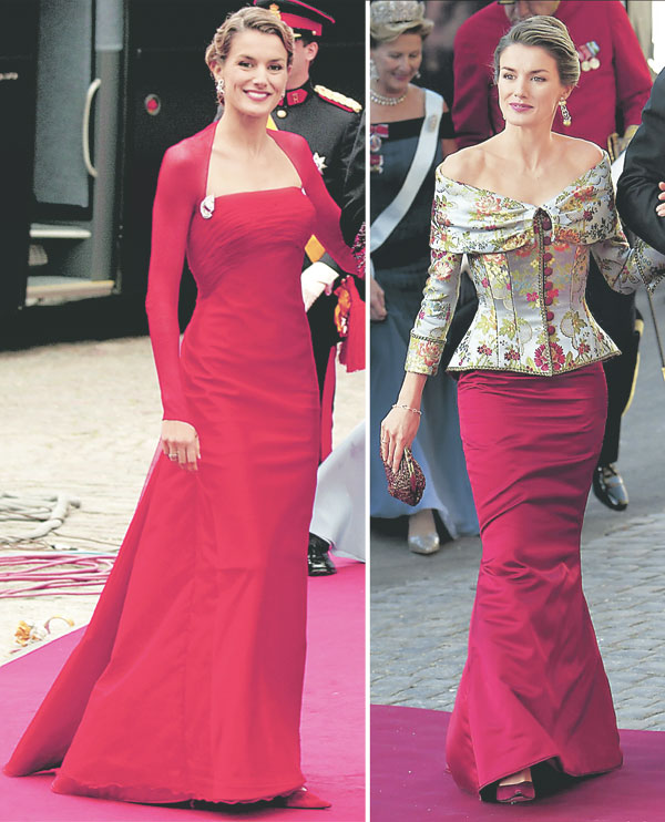Vestidos de noche de la reina letizia