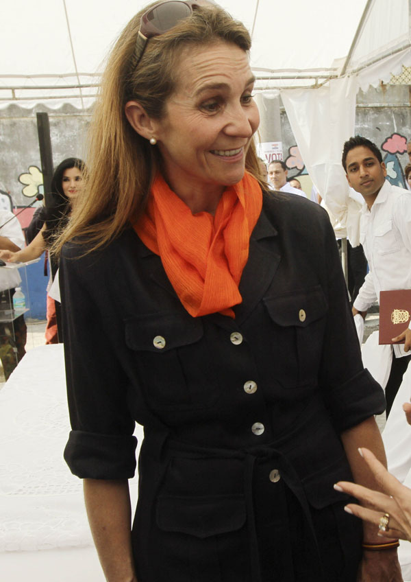 Elena de Borbón en Panamá