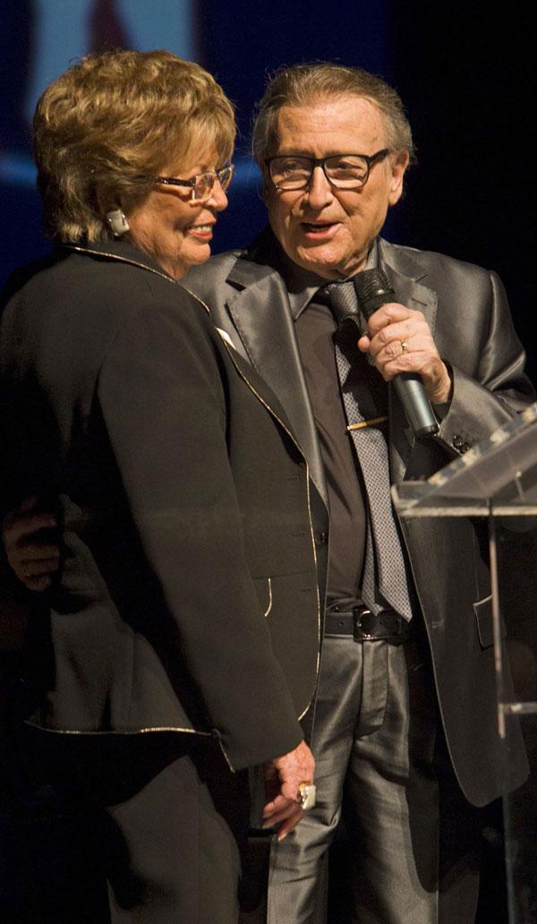 Manolo Escobar y su esposa, Anita Marx, en El Ejido
