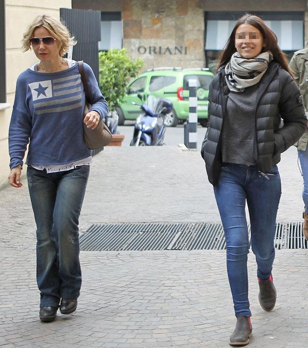 Eugenia Martínez de Irujo y Cayetana Rivera en Roma