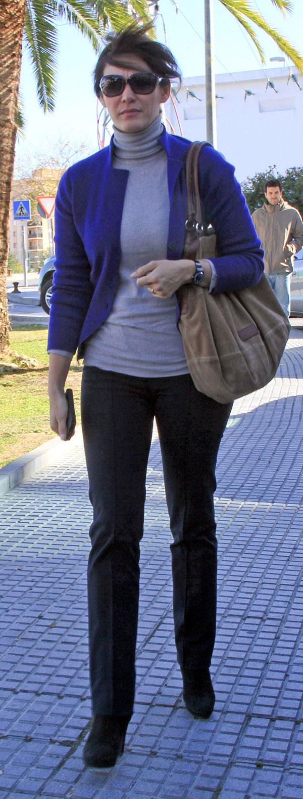 Fabiola Martínez a su llegada al hospital general de Jerez de la Frontera