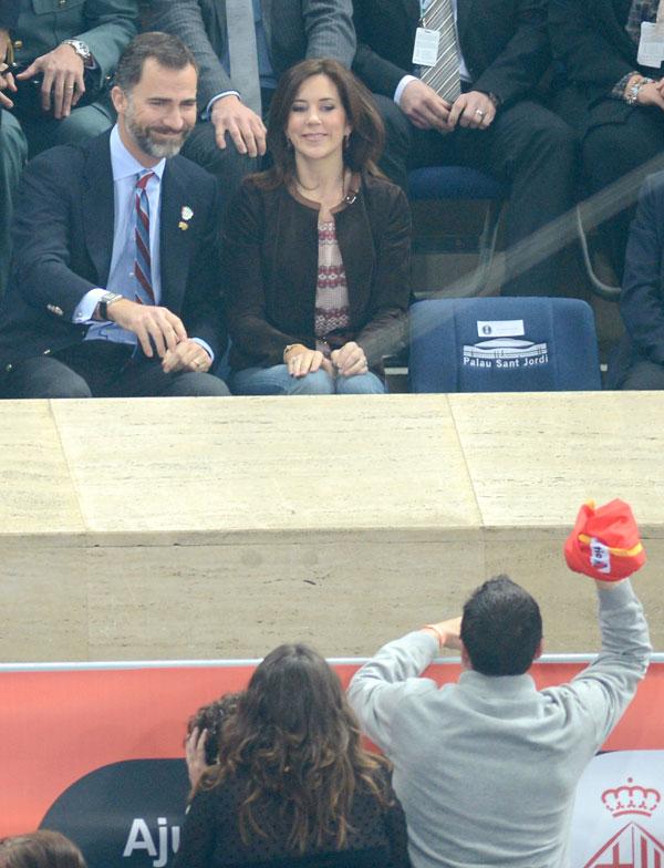 Felipe-de Borbón y-Mary-Donaldson en el Palau San Jordi de Barcelona