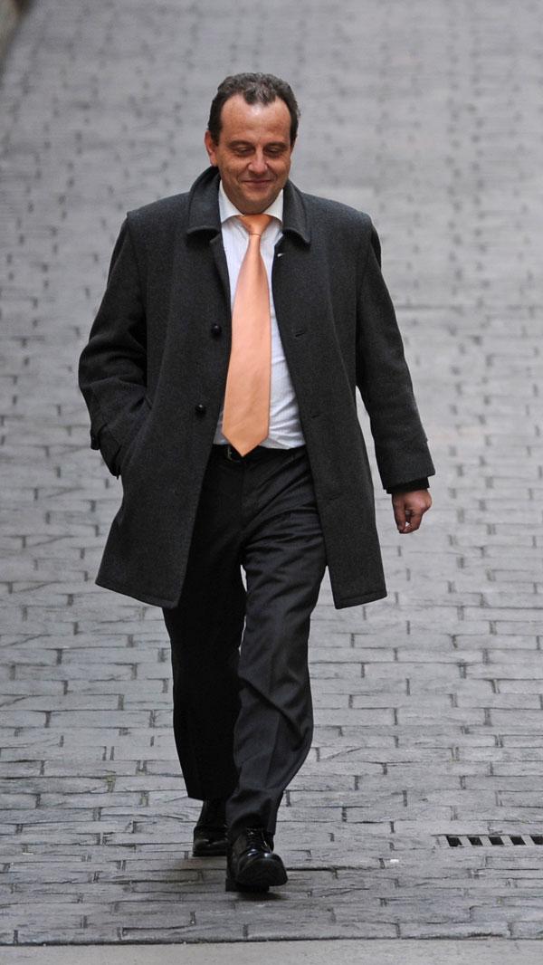 """PEDRO HORRACH ASISTIENDO AL JUICIO POR EL """"CASO PALMA ARENA """" 11/02/2012"""