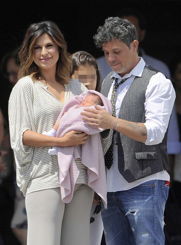 Raquel Perera, Alejandro Sanz e hija