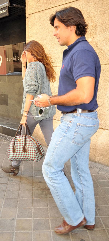Francisco Rivera Ordóñez y Lourdes Montes a su salida de un restaurante japonés de Madrid