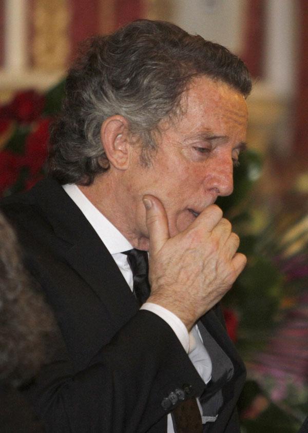 ALFONSO DIEZ Y AMINA MARTINEZ DE IRUJO DURANTE EL ENTIERRO DE LA DUQUESA DE ALBA , CAYETANA FITZ JAMES 20/11/2014 SEVILLA