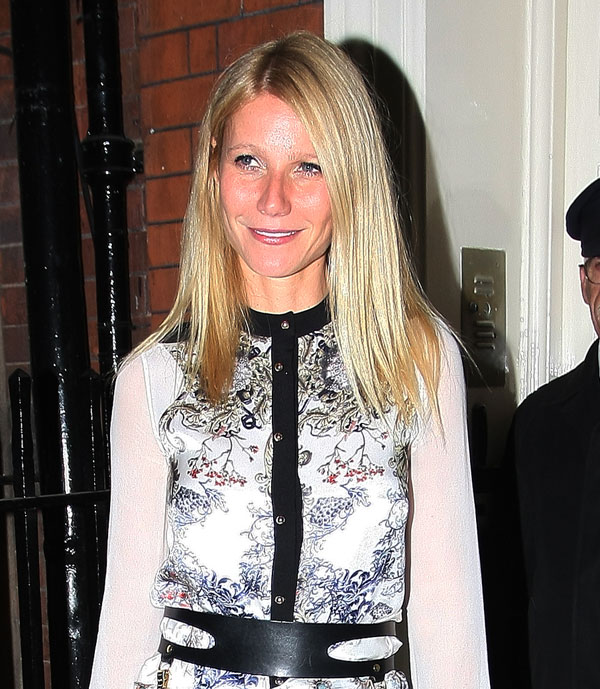 Gwyneth Paltrow a su salida del Mark Club de Londres