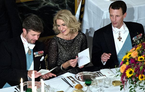 Helle Thorning-Schmidt y los príncipes de Dinamarca