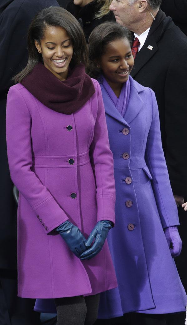 Hijas-Obama Sasha y Malia