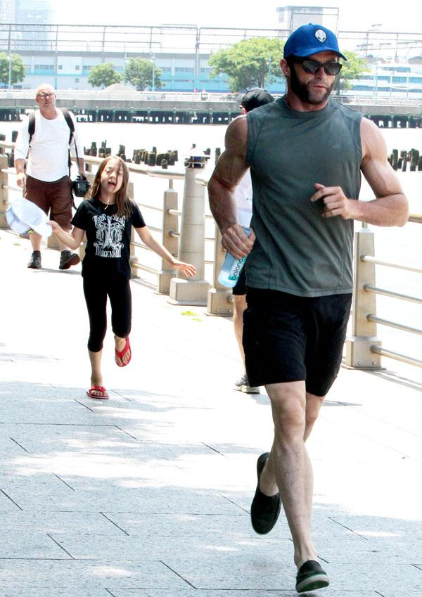Hugh Jackman con su hija Ava