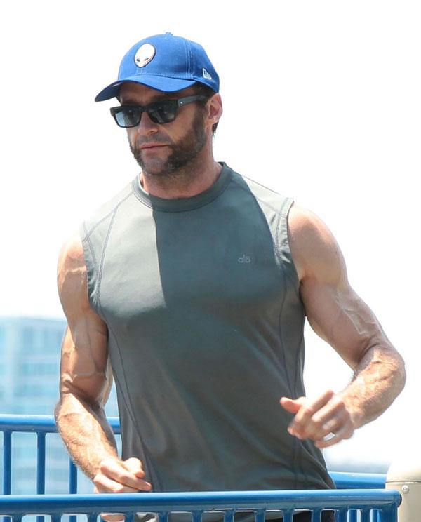 Hugh-Jackman se pone en forma por Nueva York