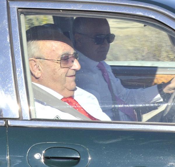 Humberto Janeiro a la llegada a la boda de su hijo Victor con Beatriz Trapote