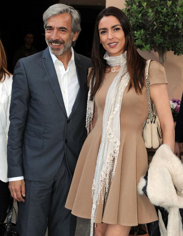 Imanol Arias e Irene Meritxell en la gala Premios Cofrades de Marbella