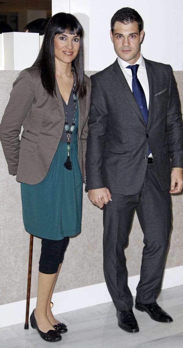 Irene Villa y su marido en el Club Siglo XXI