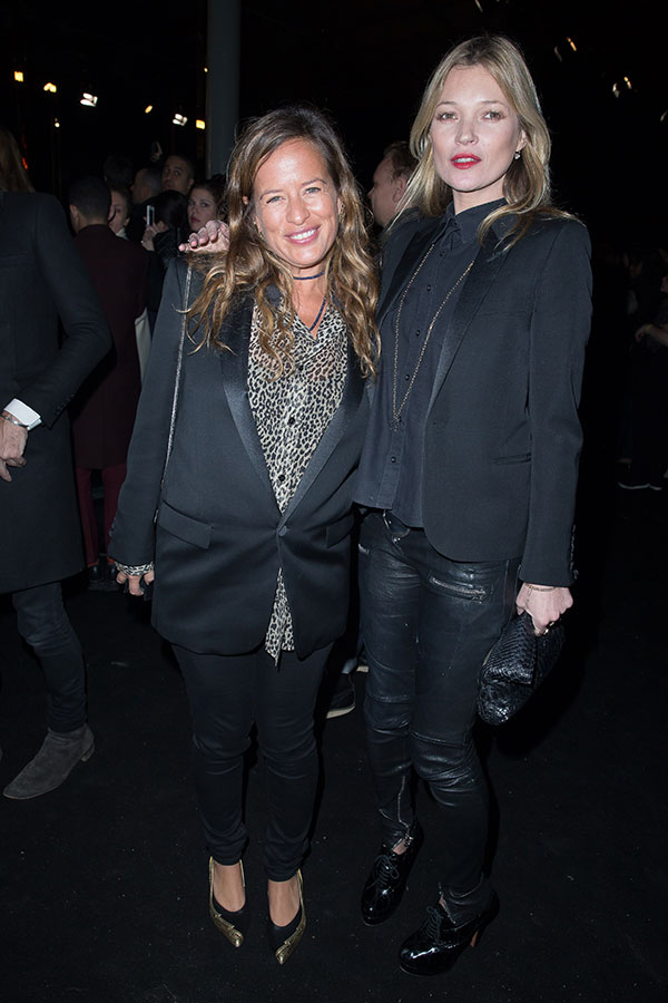 Jade Jagger and Kate Moss at YvesSaintLaurent fashion show F/W ready-to-wear 2014 in Paris, France on march 3rd 2014 .