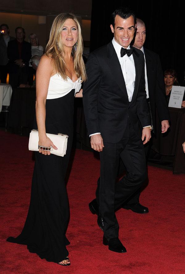 Jennifer-Aniston-y-Justin-Theroux, en un homenaje en Beverly Hills