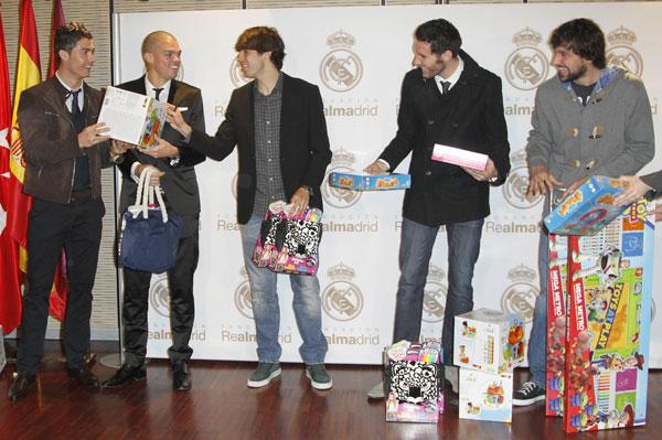 Ronaldo, Pepe, Kaká, Rudy Fernández y Sergio Llull