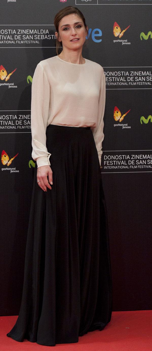 Actriz Julie Gayet promover su película,'' Quai d'Orsay'', para el Festival de Cine de San Sebastián 61 ª, en San Sebastián, norte de España, Martes, 24 de septiembre 2013 Ciudad: San Sebastian