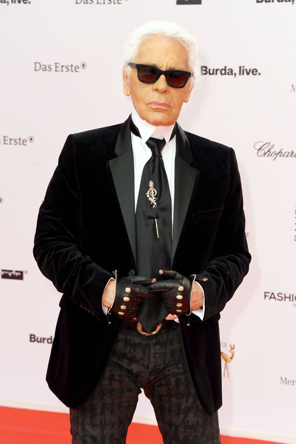 Karl Lagerfeld en Berlín, en la gala de los Premios Bambi 2013