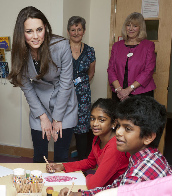 Kate Middleton, en la terapia de arte del Shooting Star House Hospice.