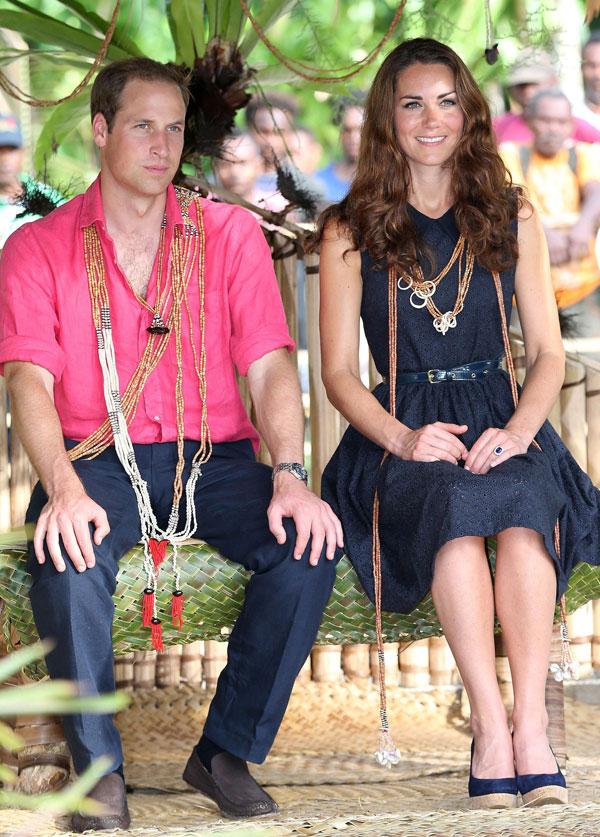 Kate Middleton y el príncipe Guillermo de viaje en Tailandia en 2012