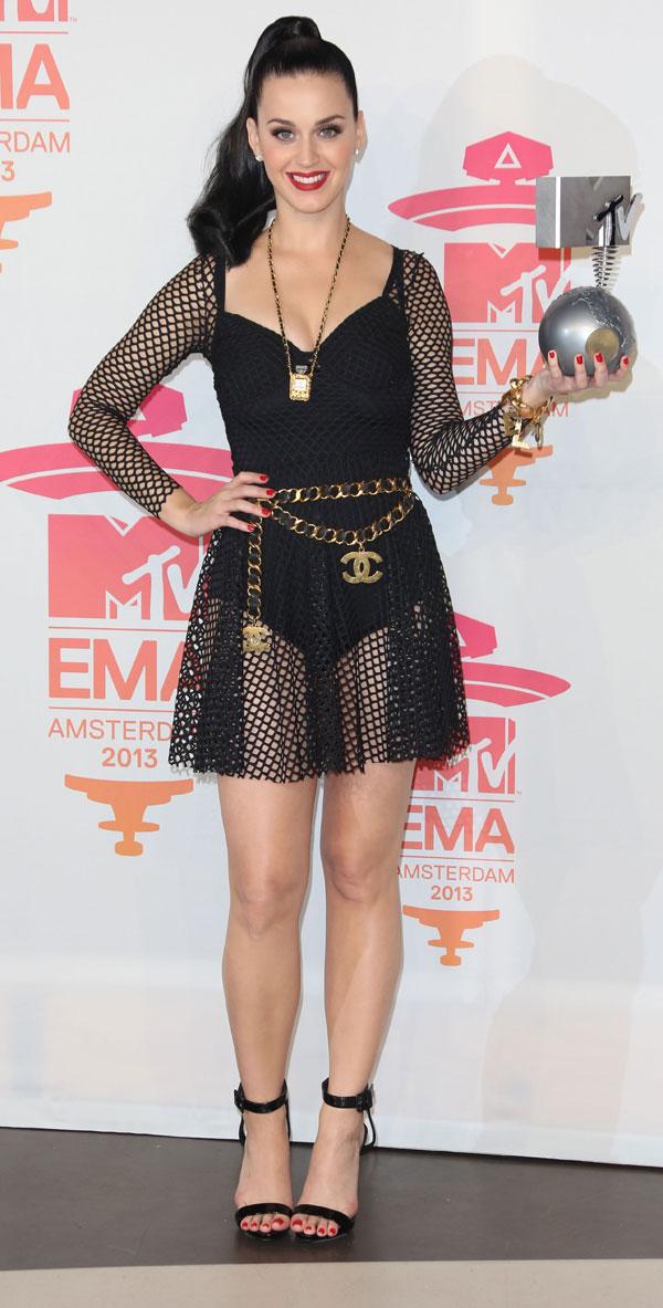 Katy Perry en la entrega de premios MTV en Amsterdam