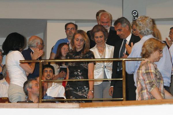 La-reina-en-el-Auditorio-Nacional en el Día de la Música