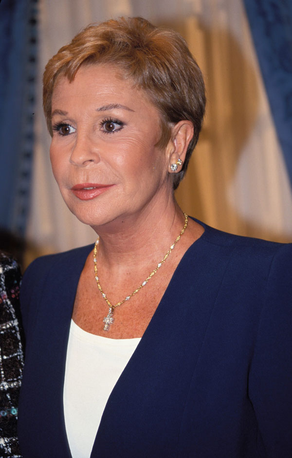 PRIMER PLANO ACTRIZ LINA MORGAN DECADA 1990 .