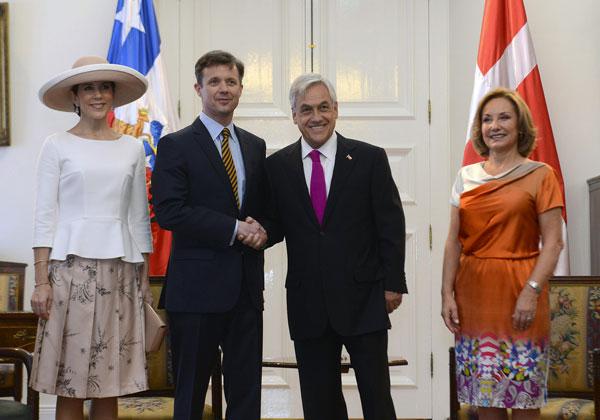 Federico y Mary de Dinamarca en visita oficial a Chile