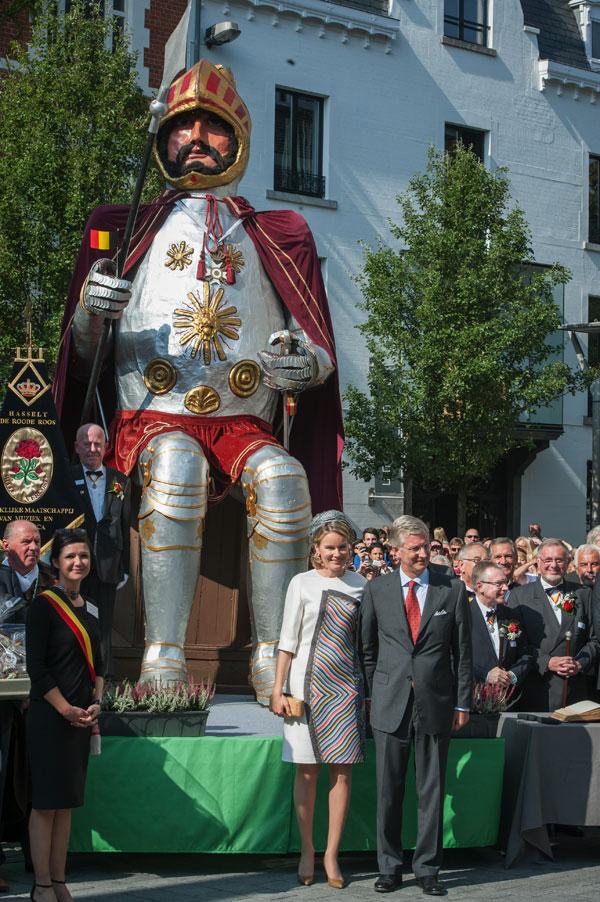 Felipe y Matilde de Bélgica ayer en Hasselt