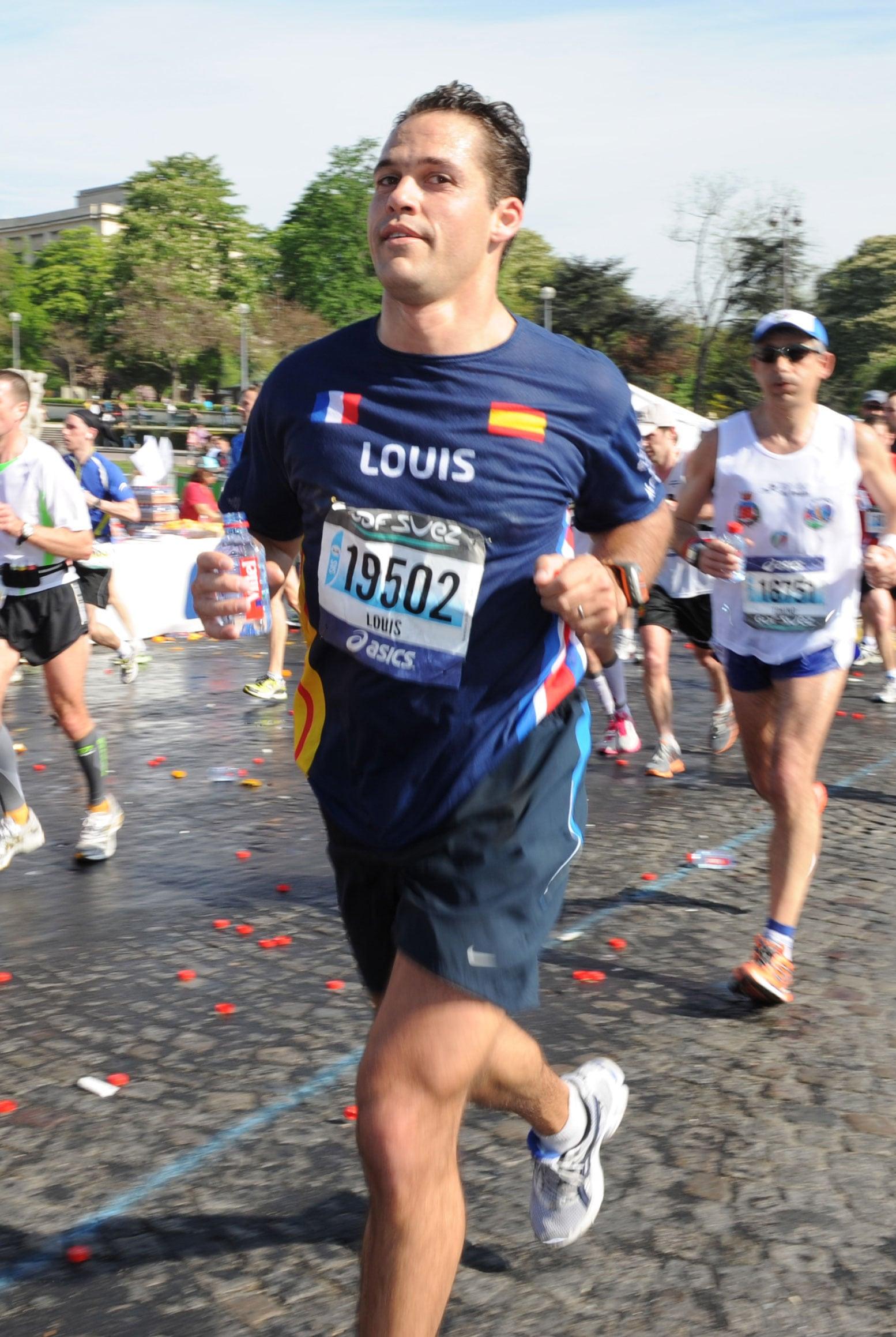 Luis Alfonso de Borbón en la maratón de Paris de 2010