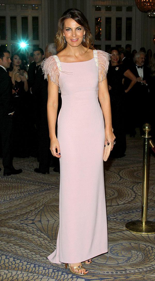 Mar Flores en la gala de las Medallas de Oro del Instituto Reina Sofía en el Waldorf Astoria de Nueva York