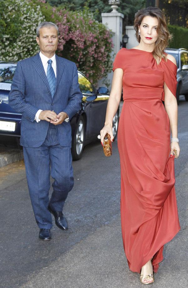 Mar Flores y Javier Merino, invitados en la boda de Marina Castaño.