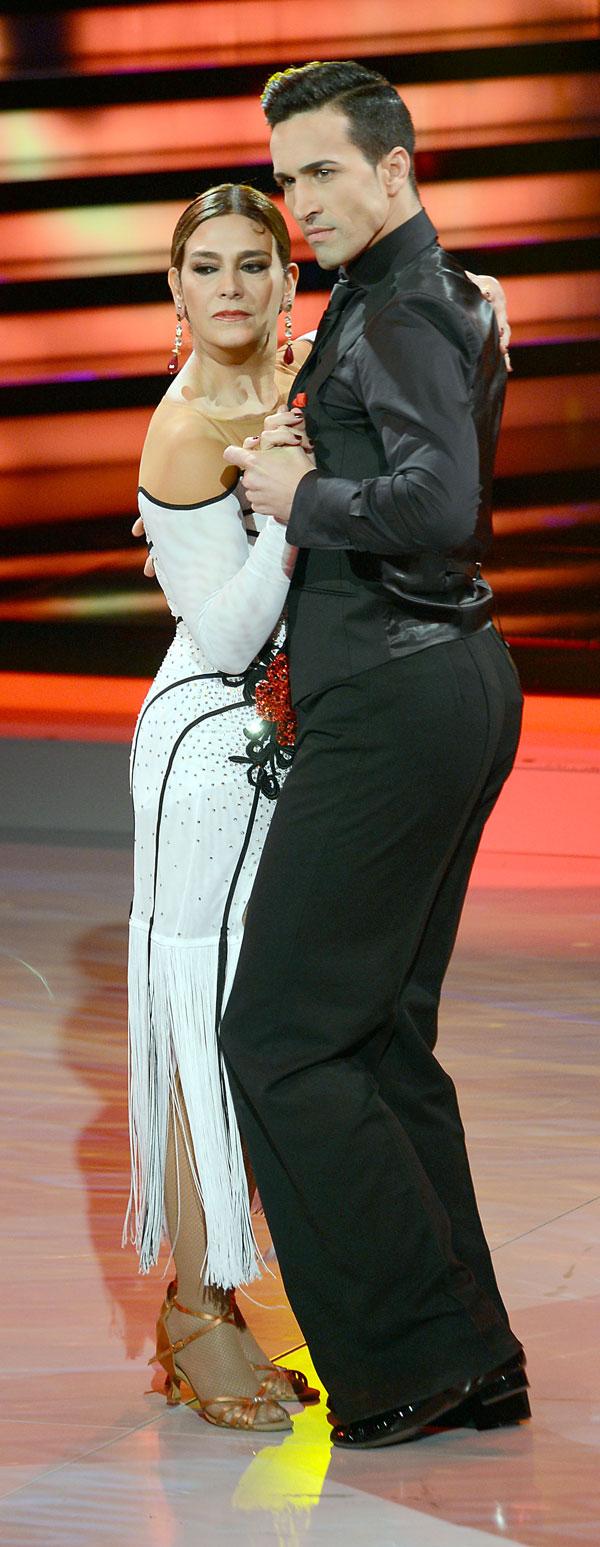 """MARINA DANKO DURANTE EL PROGRAMA DE TV """" MIRA QUIEN BAILA """" 27/01/2014 BARCELONA"""