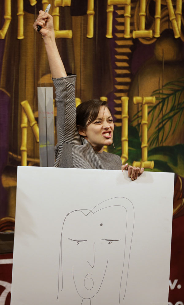 Marion-Cotillard-dibujo Harvard