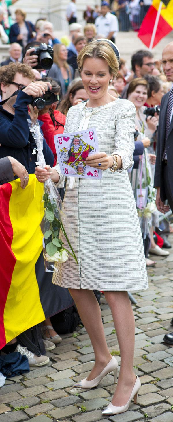 Matilde de Belgica, reina de los belgas, en Bruselas, en el homenaje al rey Balduino en el XX aniversario de su fallecimiento