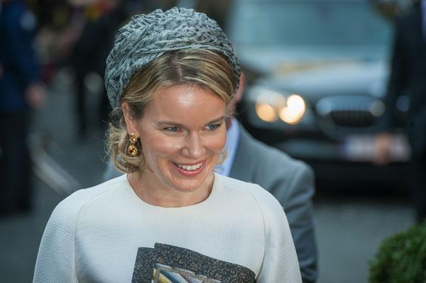 La reina Matilde de los belgas ayer en Hasselt