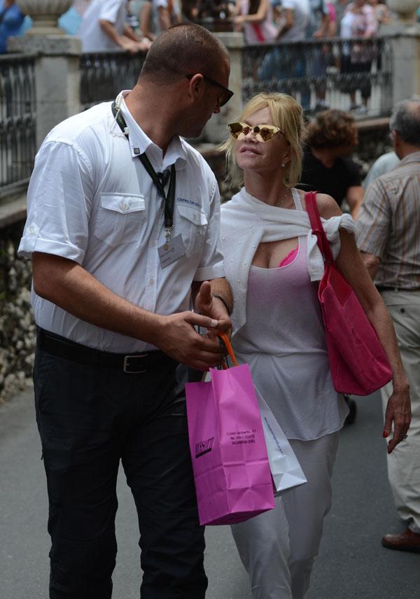 Actress Melanie Griffith in Taormina, Italy, 17/06/2014