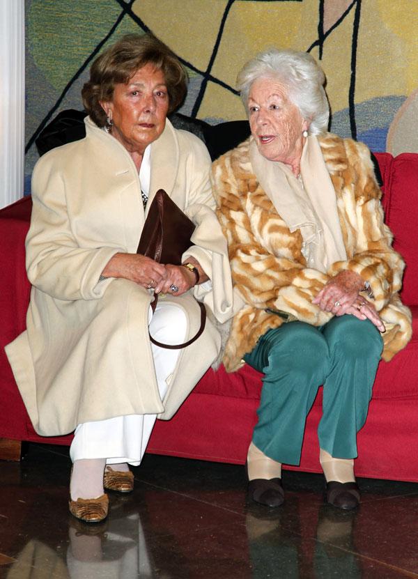 La abuela de Letizia, Menchu Álvarez del Valle, con su hermana, Marisol Álvarez del Valle